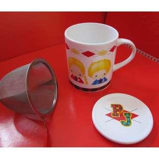 Sanrio Patty&Jimmy 水杯連蓋及茶格 1998年