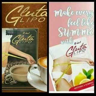 Gluta lipo juice and coffee
