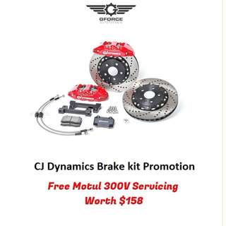 4 POT CJ BRAKE KIT FREE MOTUL SERVICING