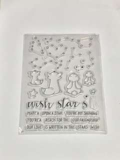(FREE NM) Animals Wishing Upon A Star Clear Stamps Set