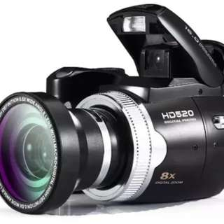 PROTAX Max 16Mp  Digital Camera SLR Camera Similar 5MP CMOS Sensor 8X Digital Zoom Nice Video Camera Li-Battery