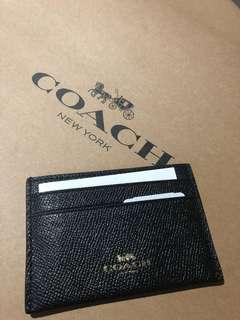 BRAND NEW COACH Card Holder (Black)