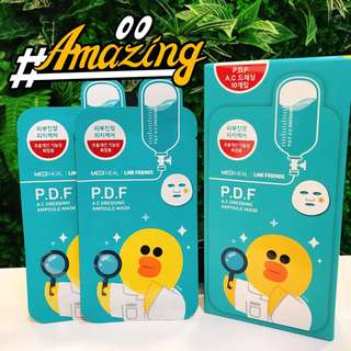 Mediheal Line Friends AC Dressing PDF Ampoule Mask