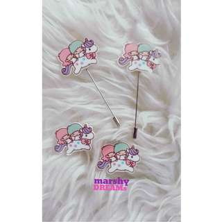 Little Twin Stars Hijab Brooch/Pin