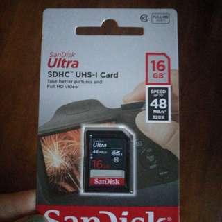 Sandisk SDHC ultra 16GB