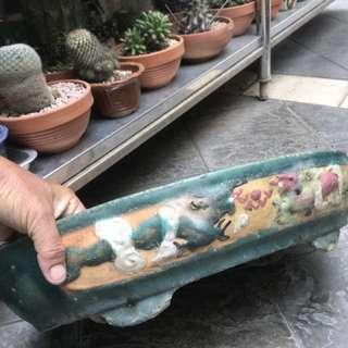 Antique bonsai pot