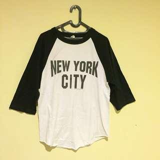 NYC 3/4 sleeve shirt