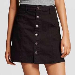[INSTOCKS] Black Button Down Skirt