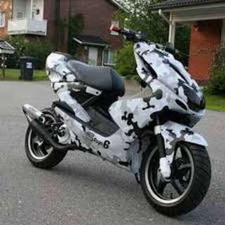 Motorbike sticker wrap - Camouflage