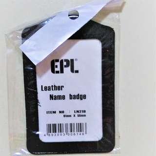 Leather Namebage Holder