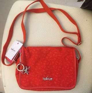 Kipling 橙紅色斜孭袋