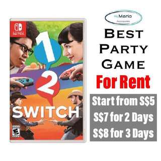 [Rental] Nintendo Switch 1 2 Switch Party Game
