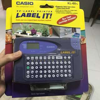 Casio Labeler. Label It! BNIB