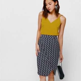 Love bonito fetryne Printed Foldover Skirt