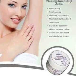 Mandelic underarm whitening cream