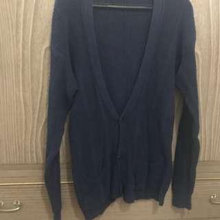Dark Blue Knit Cardigan
