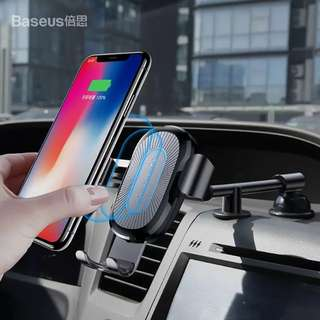 Wireless Charger Gravity Car Holder for iPhone 8 X Samsung S9 Quick Charger Wireless Charging Car Phone Support