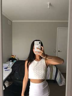Forever 21 White Crop
