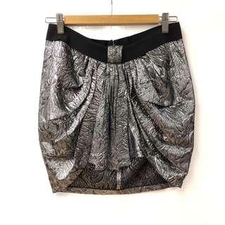 Isabel Marant metallic silver skirt size 0