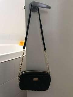kookai black quilted bag