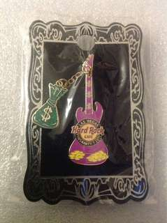 Hard Rock Cafe Pins - LAS VEGAS HOT 2011 PINSANITY # 7 VERTICAL MONEY GUITAR!
