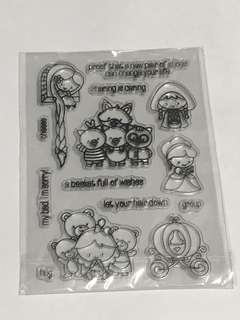 (FREE NM) Childhood Stories Characters Clear Stamps Set