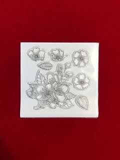Flowers #11 scrapbooking Clear Stamp