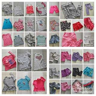Baju bundle | Size 7 & 8 tahun | 40 helai