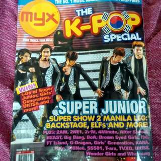MYX MAGAZINE SUPER JUNIOR