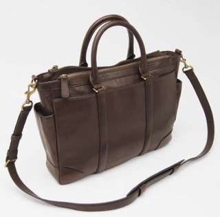 Coach Leather Metropolitan Briefcase