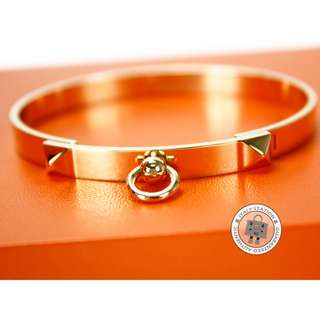 (NEW)Hermes 108112B COLLIER DE CHIEN CUFF CDC METAL PM BRACELET GHW, 18K GOLD / 00SH 全新 手鐲 手鈪 金色