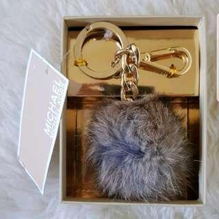 Michael Kors Fur Pom Pom Keychain