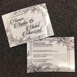 Glossy Wedding card