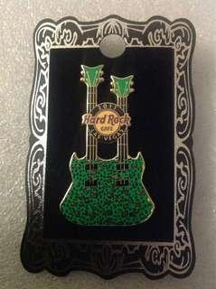 Hard Rock Cafe Pins - LAS VEGAS HOT 2011 CHEETAH PRINT DOUBLE-NECK GUITAR PIN!