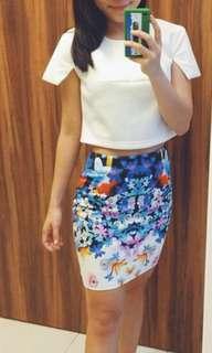 Floral Pencil Skirt