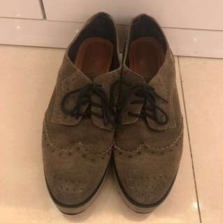 Milles oxford platform shoes 牛津厚底鞋 suede