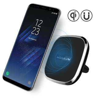 Nillkin 2-in-1 Qi Wireless Charging Pad & Magnetic Car Mount Air Vent Holder