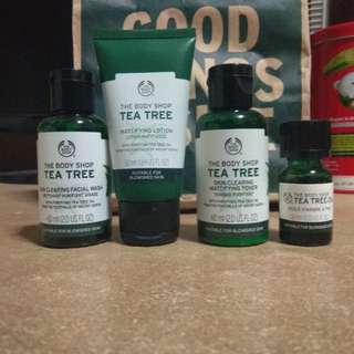 Body shop Tea tree oil and lotion