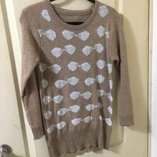 🚚 滿版蝴蝶結針織毛衣