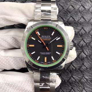 地鐵站交收 Rolex 勞力士 Milgauss 116400GV 40mm 綠玻璃 116400 AR出品