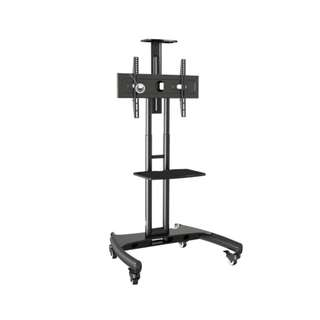 TV Stand Cart with Wheels for TV up to 55 Inch R28