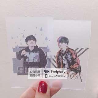 Suga Fansite Matte Transparent Card