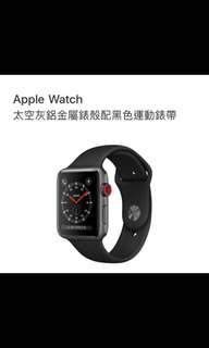 Apple Watch series 3 42mm Black黑色全新
