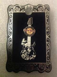 Hard Rock Cafe Pins - LAS VEGAS HOT 2011 FACES GUITAR PIN!