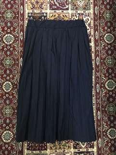 Navy百褶半身裙