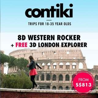 8D Western Rocker + FREE 3D London Explorer