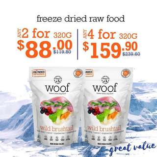 Woof freeze dried raw food 320g