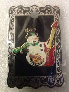 Hard Rock Cafe Pins - LAS VEGAS HOT 2011 HAPPY HOLIDAYS ROCKIN' SNOWMAN!