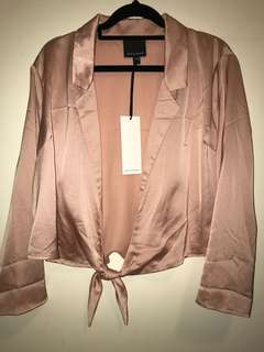 Alice by the Eve Dusty Rose Tie Top