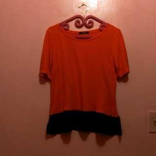 George Orange Top with Sheer Black Bottom (Free shipping within Metro Manila)
